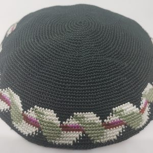 KippaCo Hand Knitted Yarmulke, Knitted Kippah Hat 15 cm 5.9 Inc 154-hand knitted kippah, kippah. 100 cotton, Bar Mitzvah kippah, Wedding Kippa