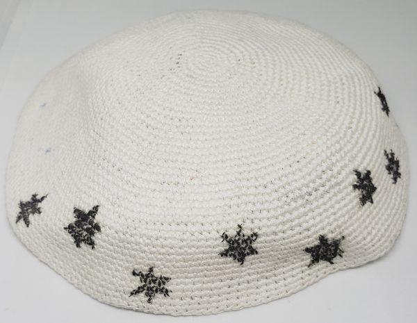 KippaCo Hand Knitted Yarmulke, Knitted Kippah Hat 15 cm 5.9 Inc 156-hand knitted kippah, kippah. 100 cotton, Bar Mitzvah kippah, Wedding Kippa