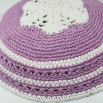 KippaCo Hand Knitted Yarmulke, Knitted Kippah Hat 15 cm 5.9 Inc 157-3-hand knitted kippah, kippah. 100 cotton, Bar Mitzvah kippah, Wedding Kippa