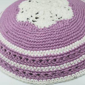 KippaCo Hand Knitted Yarmulke, Knitted Kippah Hat 15 cm 5.9 Inc 157-3-hand knitted kippah, kippah. 100 cotton, Bar Mitzvah kippah, Wedding Kippa