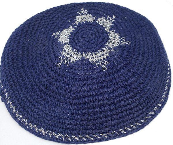 KippaCo Hand Knitted Yarmulke, Knitted Kippah Hat 15 cm 5.9 Inc 159-hand knitted kippah, kippah. 100 cotton, Bar Mitzvah kippah, Wedding Kippa