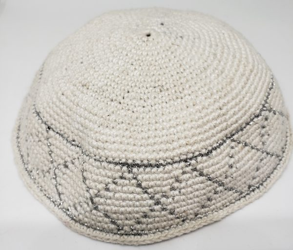 KippaCo Hand Knitted Yarmulke, Knitted Kippah Hat 15 cm 5.9 Inc 160-hand knitted kippah, kippah. 100 cotton, Bar Mitzvah kippah, Wedding Kippa