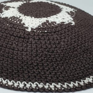 KippaCo Hand Knitted Yarmulke, Knitted Kippah Hat 15 cm 5.9 Inc 162-1-hand knitted kippah, kippah. 100 cotton, Bar Mitzvah kippah, Wedding Kippa