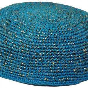 KippaCo Hand Knitted Yarmulke, Knitted Kippah Hat 15 cm 5.9 Inc 166-2-hand knitted kippah, kippah. 100 cotton, Bar Mitzvah kippah, Wedding Kippa