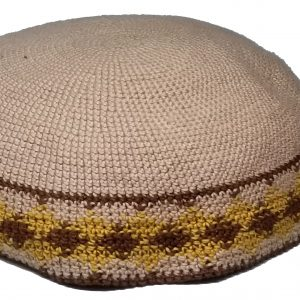 KippaCo Hand Knitted Yarmulke, Knitted Kippah Hat 15 cm 5.9 Inc 167-2-hand knitted kippah, kippah. 100 cotton, Bar Mitzvah kippah, Wedding Kippa