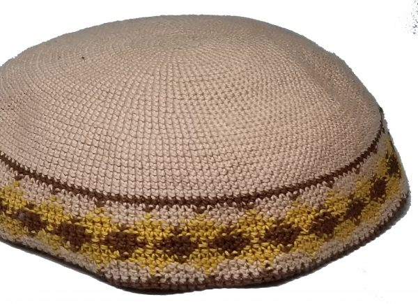 KippaCo Hand Knitted Yarmulke, Knitted Kippah Hat 15 cm 5.9 Inc 167-2-hand knitted kippah, kippah. 100 cotton, Bar Mitzvah kippah, Wedding Kippa