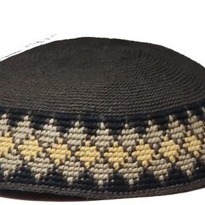 KippaCo Hand Knitted Yarmulke, Knitted Kippah Hat 15 cm 5.9 Inc 173-1-hand knitted kippah, kippah. 100 cotton, Bar Mitzvah kippah, Wedding Kippa