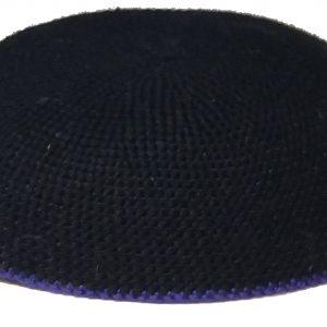 KippaCo Hand Knitted Yarmulke, Knitted Kippah Hat 15 cm 5.9 Inc 179-2-hand knitted kippah, kippah. 100 cotton, Bar Mitzvah kippah, Wedding Kippa