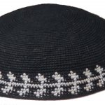 KippaCo Hand Knitted Yarmulke, Knitted Kippah Hat 15 cm 5.9 Inc 181-2-hand knitted kippah, kippah. 100 cotton, Bar Mitzvah kippah, Wedding Kippa
