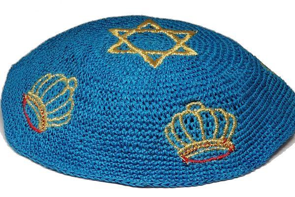 KippaCo Hand Knitted Yarmulke, Knitted Kippah Hat 15 cm 5.9 Inc 182-2-hand knitted kippah, kippah. 100 cotton, Bar Mitzvah kippah, Wedding Kippa