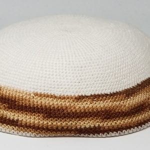 KippaCo Hand Knitted Yarmulke, Knitted Kippah Hat 15 cm 5.9 Inc 184-2-hand knitted kippah, kippah. 100 cotton, Bar Mitzvah kippah, Wedding Kippa