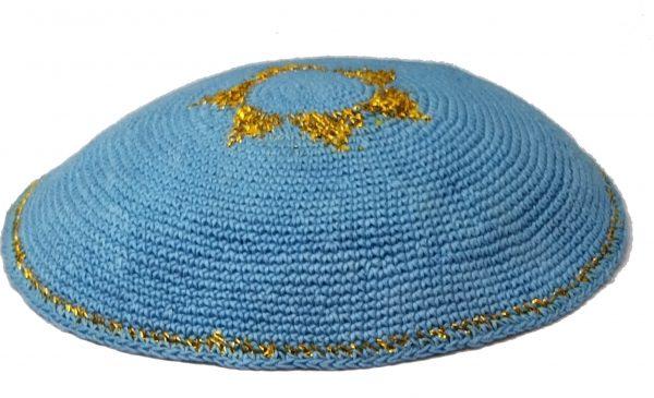 KippaCo Hand Knitted Yarmulke, Knitted Kippah Hat 15 cm 5.9 Inc 185-1-hand knitted kippah, kippah. 100 cotton, Bar Mitzvah kippah, Wedding Kippa