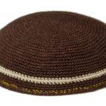 KippaCo Hand Knitted Yarmulke, Knitted Kippah Hat 15 cm 5.9 Inc 187-3-hand knitted kippah, kippah. 100 cotton, Bar Mitzvah kippah, Wedding Kippa