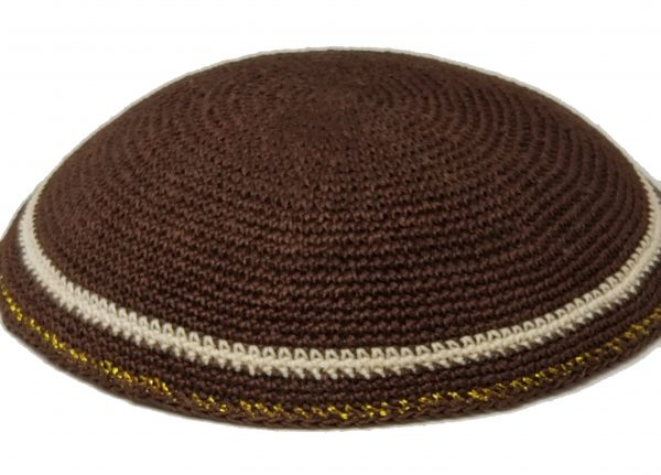 KippaCo Hand Knitted Yarmulke, Knitted Kippah Hat 15 cm 5.9 Inc 187-3-hand knitted kippah, kippah. 100 cotton, Bar Mitzvah kippah, Wedding Kippa