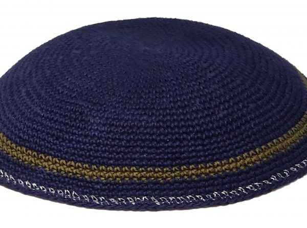 KippaCo Hand Knitted Yarmulke, Knitted Kippah Hat 15 cm 5.9 Inc 188-2-hand knitted kippah, kippah. 100 cotton, Bar Mitzvah kippah, Wedding Kippa
