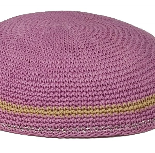 KippaCo Hand Knitted Yarmulke, Knitted Kippah Hat 15 cm 5.9 Inc 189-hand knitted kippah, kippah. 100 cotton, Bar Mitzvah kippah, Wedding Kippa