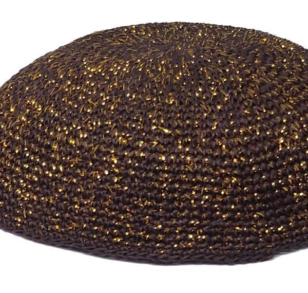KippaCo Hand Knitted Yarmulke, Knitted Kippah Hat 15 cm 5.9 Inc 191-2-hand knitted kippah, kippah. 100 cotton, Bar Mitzvah kippah, Wedding Kippa