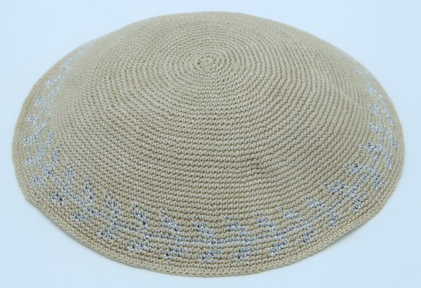 KippaCo Hand Knitted Yarmulke, Knitted Kippah Hat 15 cm5.9 Inc 018a hand knitted kippah, kippah. 100% cotton, Bar Mitzvah kippah, Wedding Kippah