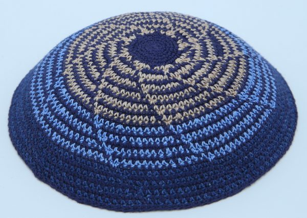 KippaCo Hand Knitted Yarmulke, Knitted Kippah Hat 15 cm5.9 Inc 024-2a-8hand knitted kippah, kippah. 100% cotton, Bar Mitzvah kippah, Wedding Kipp