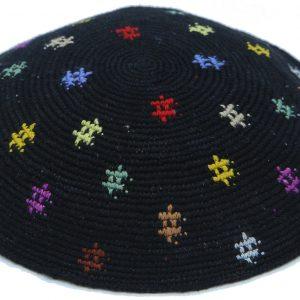 KippaCo Hand Knitted Yarmulke, Knitted Kippah Hat 15 cm5.9 Inc 058a-1hand knitted kippah, kippah. 100% cotton, Bar Mitzvah kippah, Wedding Kippah