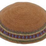 KippaCo Hand Knitted Yarmulke, Knitted Kippah Hat 15 cm5.9 Inc 068a- hand knitted kippah, kippah. 100% cotton, Bar Mitzvah kippah, Wedding Kippah