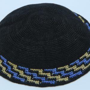 KippaCo Hand Knitted Yarmulke, Knitted Kippah Hat 15 cm5.9 Inc 113a-hand knitted kippah, kippah. 100% cotton, Bar Mitzvah kippah, Wedding Kippah