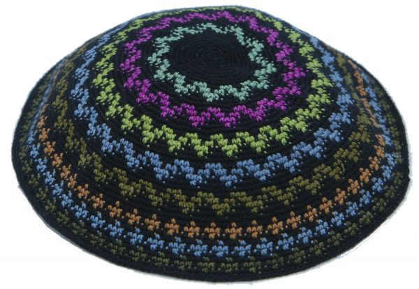 KippaCo Hand Knitted Yarmulke, Knitted Kippah Hat 15 cm5.9 Inc 114-2a hand knitted kippah, kippah. 100% cotton, Bar Mitzvah kippah, Wedding Kippa
