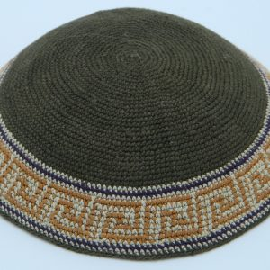 KippaCo Hand Knitted Yarmulke, Knitted Kippah Hat 15 cm5.9 Inc 115-2a hand knitted kippah, kippah. 100% cotton, Bar Mitzvah kippah, Wedding Kippa
