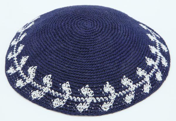 KippaCo Hand Knitted Yarmulke, Knitted Kippah Hat 15.2 Cm-6 Inc 106- Hand Knitted Kippah, Kippah. 100% Cotton, Bar Mitzvah Kippah, Wedding - Copy