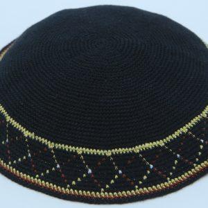 KippaCo Hand Knitted Yarmulke, Knitted Kippah Hat 15.2 Cm-6 Inc 107- Hand Knitted Kippah, Kippah. 100% Cotton, Bar Mitzvah Kippah, Wedding