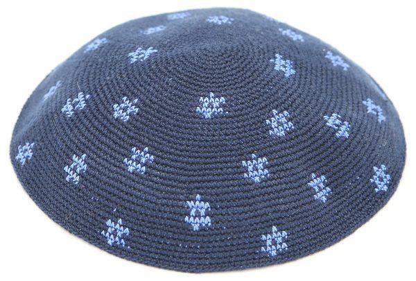 KippaCo Hand Knitted Yarmulke, Knitted Kippah Hat 16. cm-6.5 Inc 044A- Hand Knitted Kippah, Kippah. 100% Cotton, Bar Mitzvah Kippah, Wedding Kippah. Best Kippah.