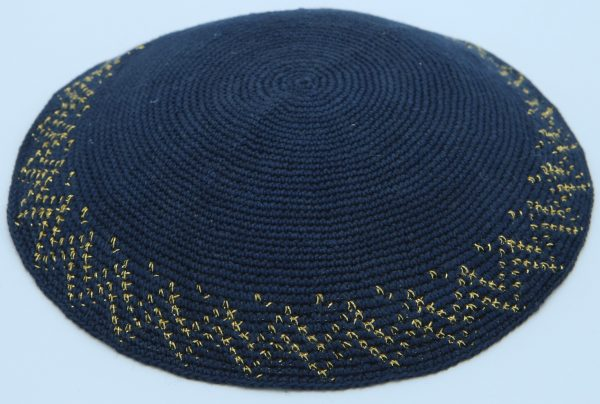 KippaCo Hand Knitted Yarmulke, Knitted Kippah Hat 16.5 cm-6.5 Inc 109 Hand Knitted Kippah, Kippah. 100% Cotton, Bar Mitzvah Kippah, Wedding Kippah. Best Kippah